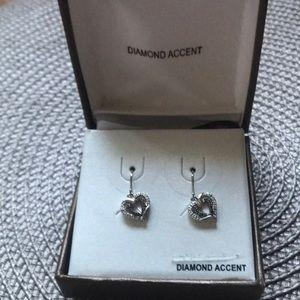 Beautiful Silver Diamond Earrings